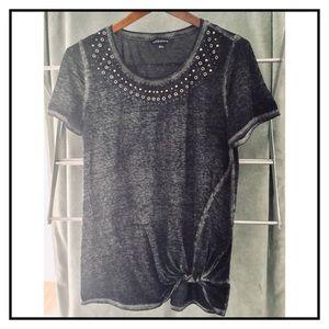Rock & Republic beaded top blouse casual M t shirt